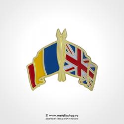 Insigna Romania - Marea Britanie Incrucisat