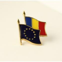 Insigna Romania - UE suprapuse