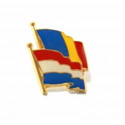 Insigna Romania - Olanda suprapuse