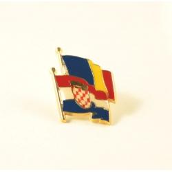 Insigna Romania - Croatia suprapuse