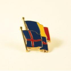 Insigna Romania - Islanda suprapuse