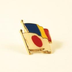 Insigna Romania - Japonia suprapuse