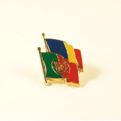 Insigna Romania - Portugalia suprapuse