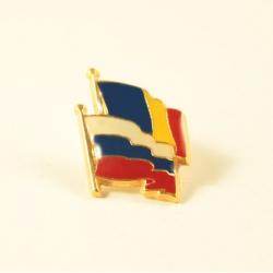 Insigna Romania - Rusia suprapuse
