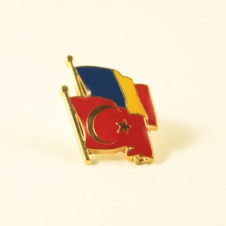 Insigna Romania - Turcia suprapuse