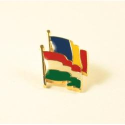 Insigna Romania - Ungaria suprapuse