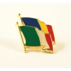 Insigna Romania - Italia suprapuse