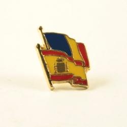 Insigna Romania - Spania suprapuse