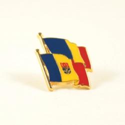 Insigna Romania - Moldova suprapuse