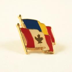 Insigna Romania - Canada suprapuse
