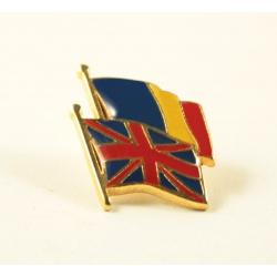 Insigna Romania - Marea Britanie suprapuse