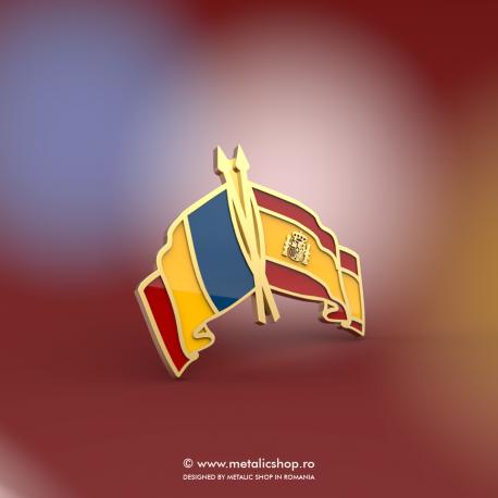 Insigna Romania - Spania Incrucisat
