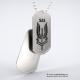 Set medalion militar SAS inox