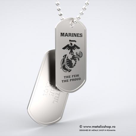 Set medalion militar Marines inox