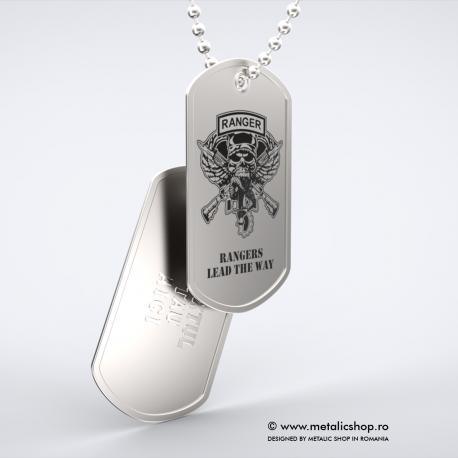 Set medalion militar Ranger inox