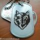 Set medalion militar Lup inox