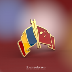 Insigna Romania - China Incrucisat