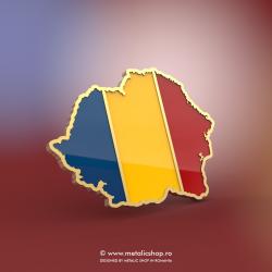 Insigna Harta Romania Mare