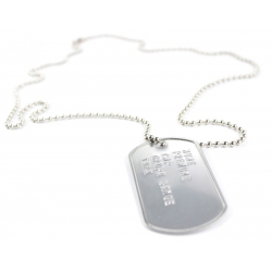 Medalion militar inox mat