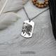 Medalion inox Indian Skull