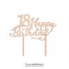 Cake topper Happy birthday