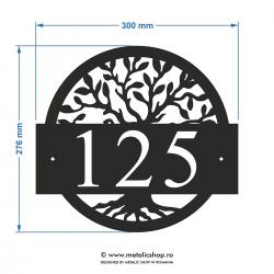 Numar de casa metalic Copacul Vietii
