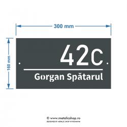 Numar de casa metalic Spatarul