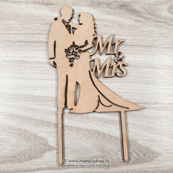 Cake topper Mr. and Mrs.