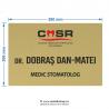 Placheta exterior Stomatologi marimea M