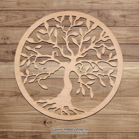 Decoratiune lemn Copacul Vietii