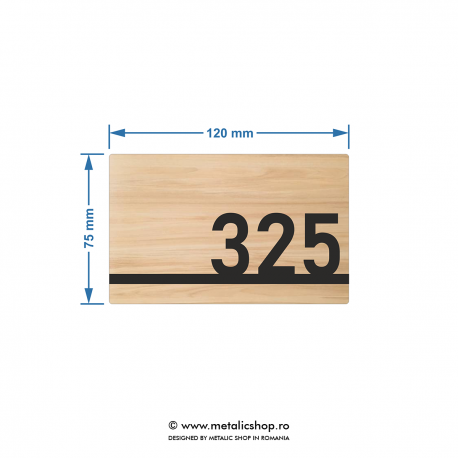 Numar de apartament model 10