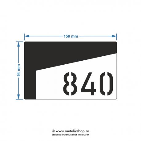 Numar de apartament model 11