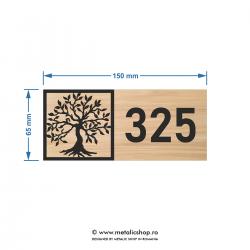 Numar de apartament model 12