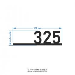 Numar de apartament model 13