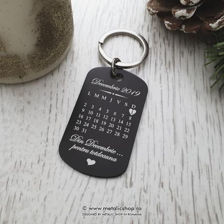 Breloc Love Calendar dreptunghiular