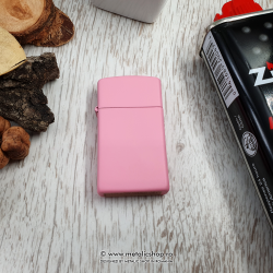 Bricheta Zippo Slim pink personalizata