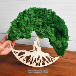 Decoratiune lemn si licheni Copacul Vietii