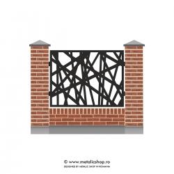 Panou de gard mare model abstract