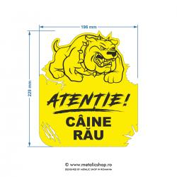 Placheta Caine rau model 3
