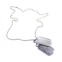 Set medalion militar crestat inox mat