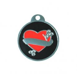 Medalion cu inima Swarovski M